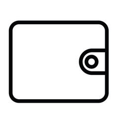 wallet icon with outline style vector image