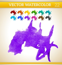 Water color texture vector image