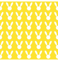 White Rabbit Yellow Background vector