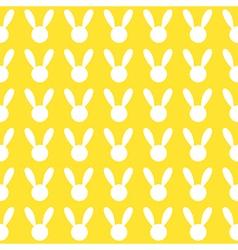 White Rabbit Yellow Background vector image