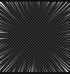 white radial lines for comics superhero action vector image