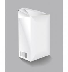 cardboard carton vector image vector image