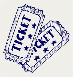 Cinema ticket vector image vector image