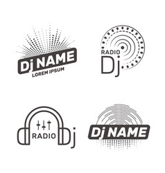 dj label vector image