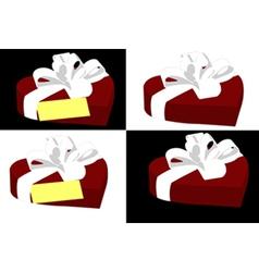Heart shaped gift box vector image vector image