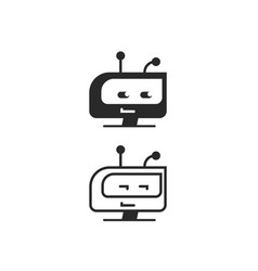 robot head icon chatbot idea or bot logo vector image vector image