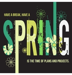 Spring typographic design poster vector image