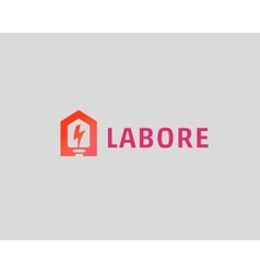 Abstract flash house logo design template vector image vector image
