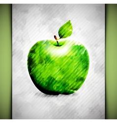 Apple watercolor vector image vector image