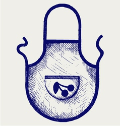 Apron for the kitchen vector image vector image