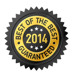 Best of the Best 2014 label vector image vector image