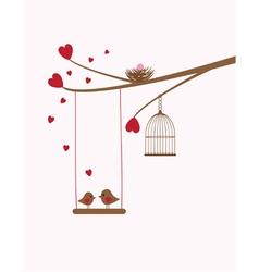 bird swing baby vector image