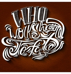 lettering White letters on a brown vector image