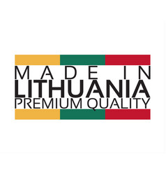 made in lithuania icon premium quality sticker vector image