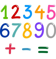 numbers from zero to nine vector image
