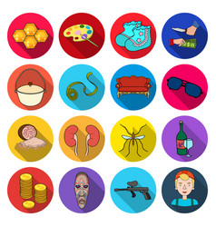 Textile arts entertainment and other web icon in vector