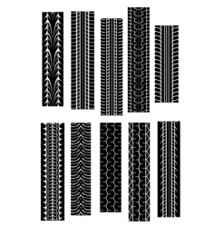 tire tread patterns vector image