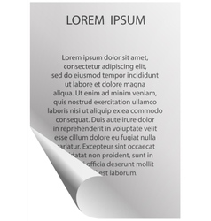 White sheet of paper with your text vector image