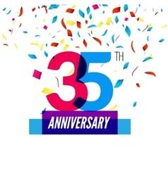 Anniversary design 25th icon anniversary vector image vector image