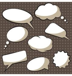 Comics speech bubbles vector