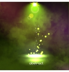 Premiere Green Show background sparkles Smoky vector image vector image