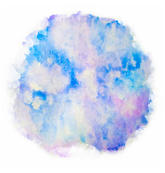 watercolor splash on white background vector image vector image