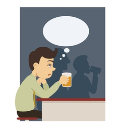 a man with beer at pub vector image