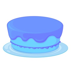 blue cake in a dish vector image