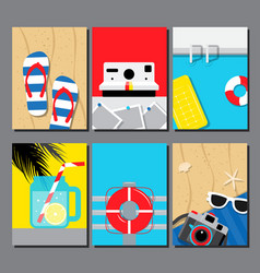 collection of summer seasand water poster vector image vector image