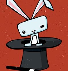 magic rabbit drawing vector image vector image