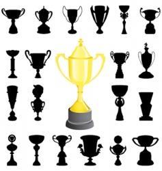 reward cup vector image vector image