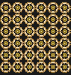 3d gold patterns on black background seamless vector image
