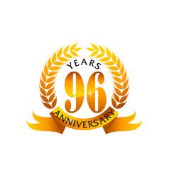 96 years ribbon anniversary vector