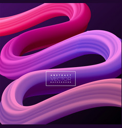 abstract 3d colorful curve line background vector image