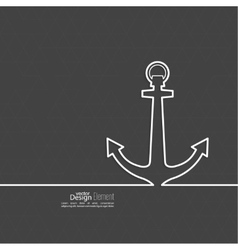 Abstract background with an anchor vector image