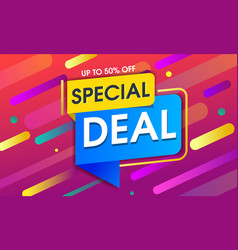 Abstract special deal background design vector