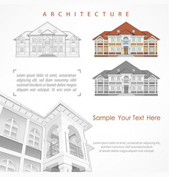 architectural plan of building vector image
