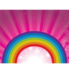 Background with rainbow vector