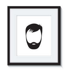 beard man in a frame vector image