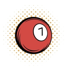 Billiard ball comics icon vector image