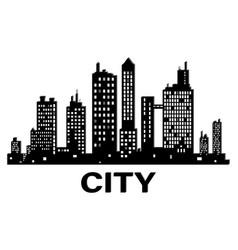 black city silhouette icon vector image