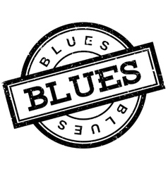 Blues rubber stamp vector