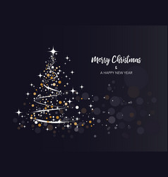 Brightness christmas tree background vector