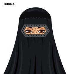burqa style arabic muslim woman in burqa vector image