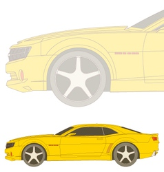 Camaro sideview vector
