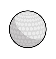 color ball to play golf icon vector image