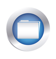Color circular emblem with folder icon vector