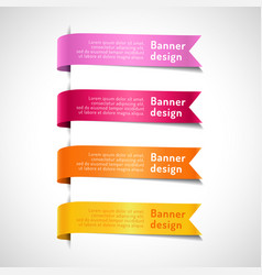 colored decorative arrow ribbons set vector image