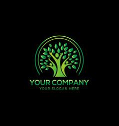 creative people green tree logo design vector image