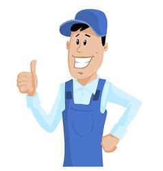 Cute Service Man vector image